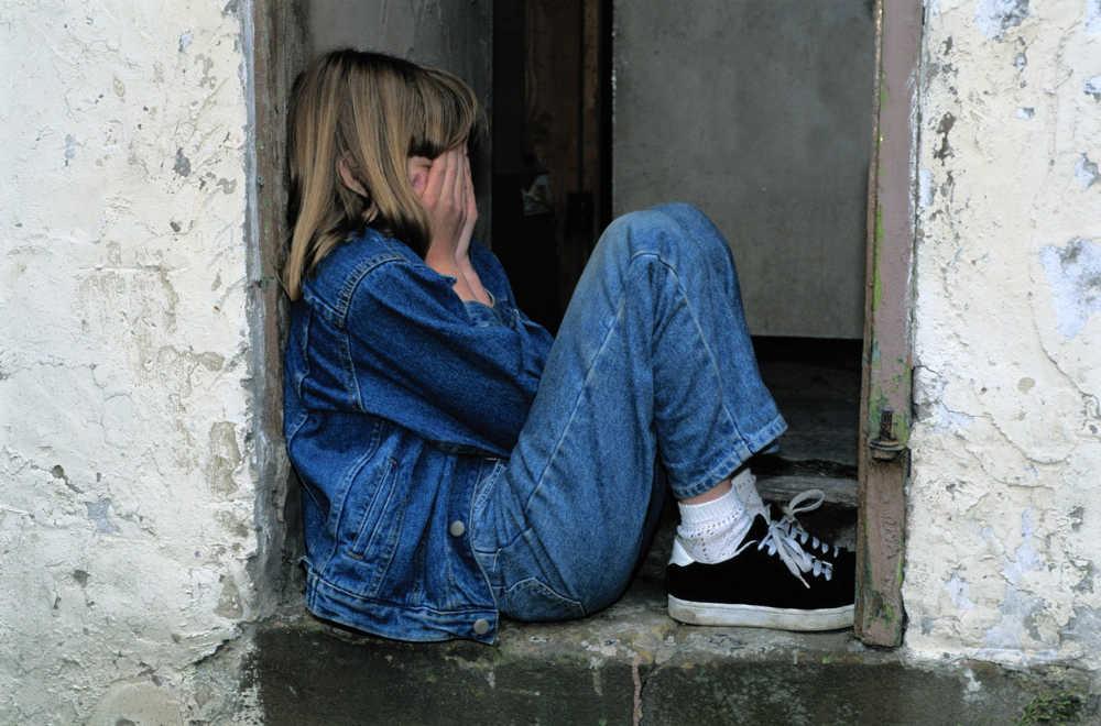 Kind - traurig und verzweifelt