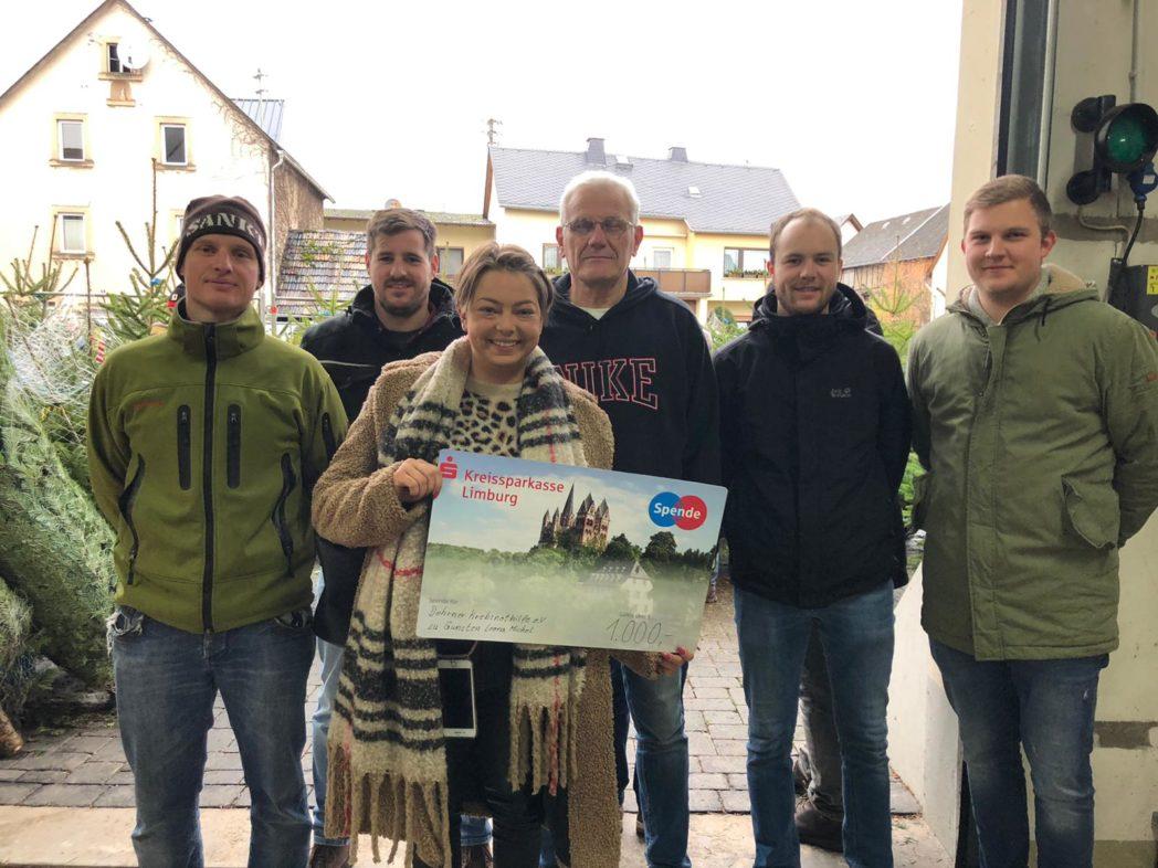 Spendenübergabe Leona Michel