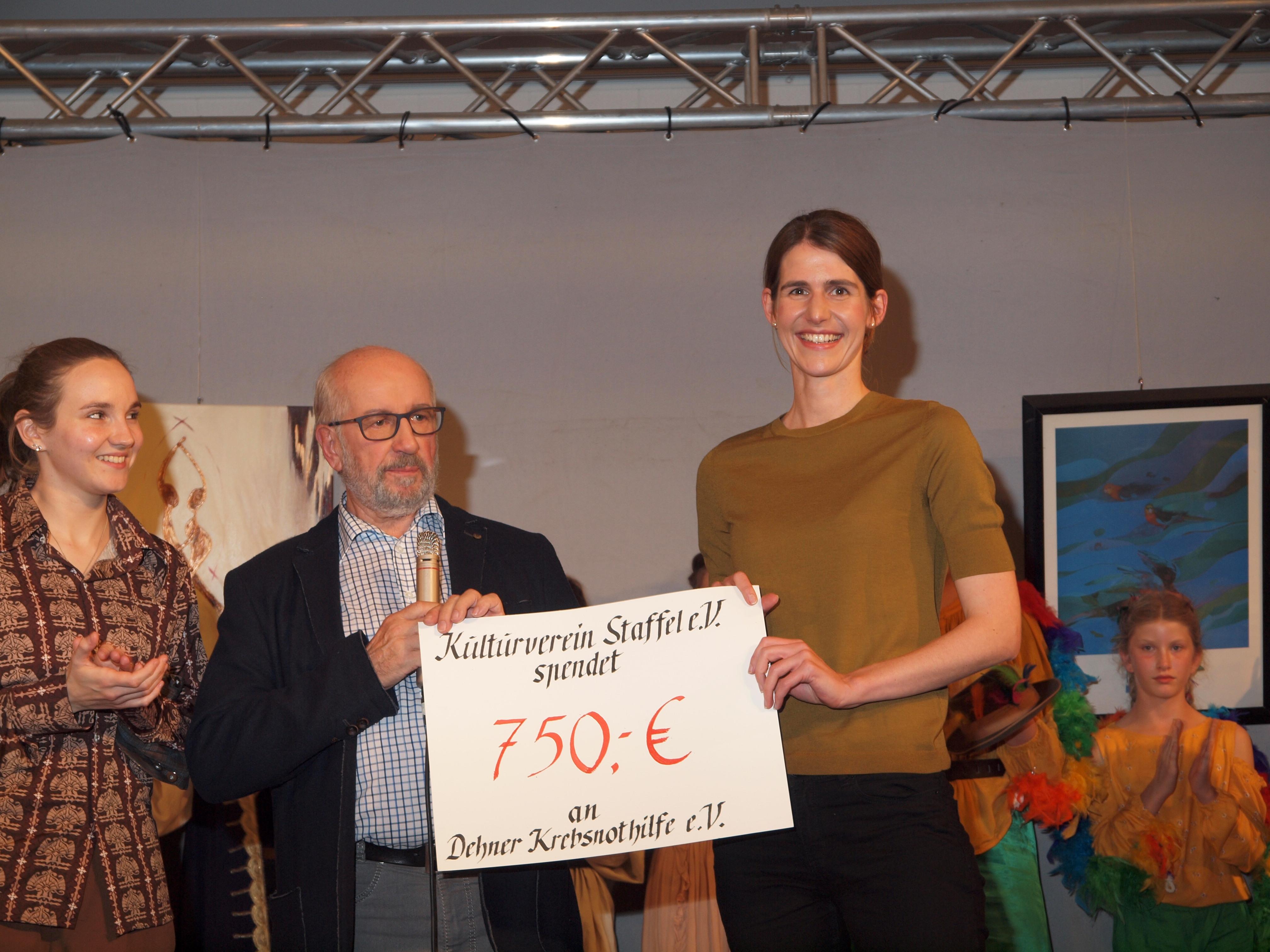 Spende des Kulturvereins Staffel: 750,- Euro