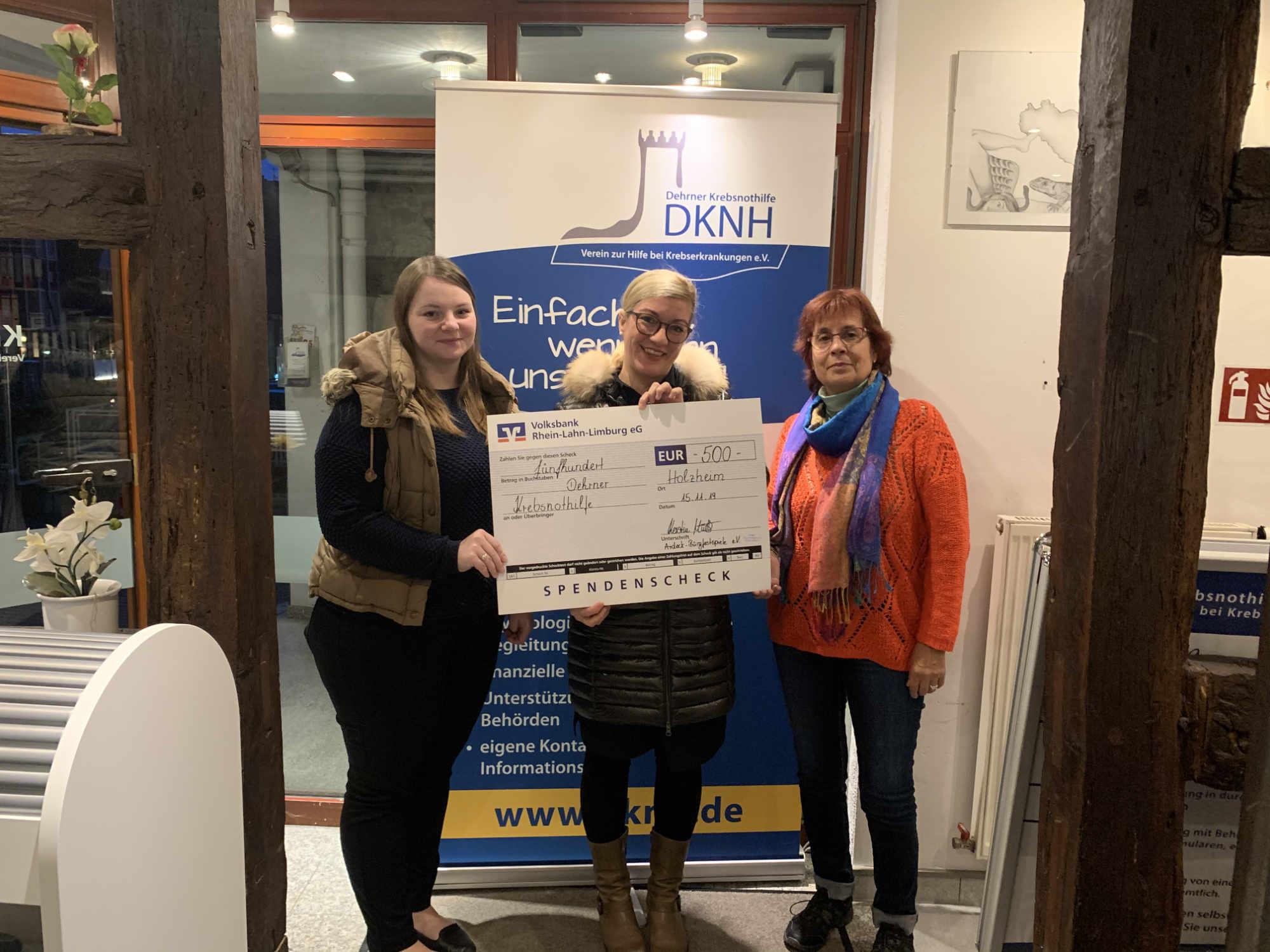 Burgfestspiele Ardeck spenden für Krebsnothilfe 500,- Euro