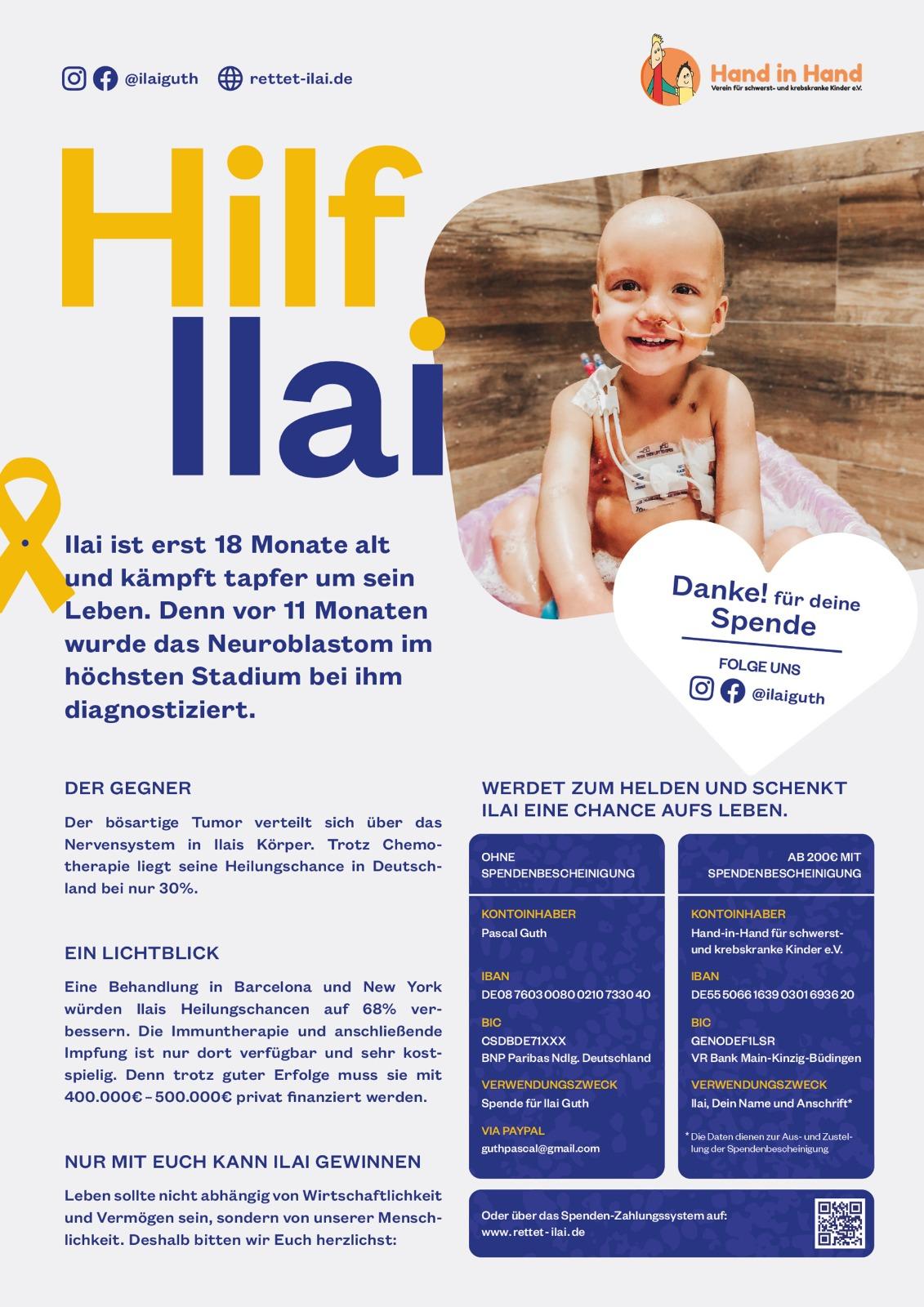 Flyer Hilfe für Ilai
